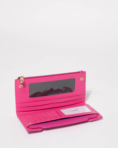 Magenta Removable Card Section Wallet
