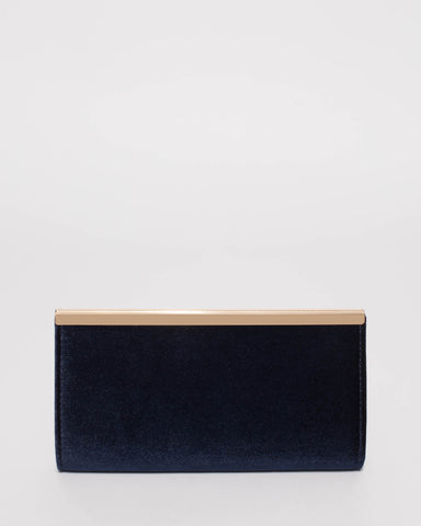Navy Taylor Classic Clutch Bag
