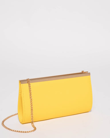 Yellow Taylor Classic Clutch Bag