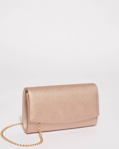 Rose Gold Lizzie Eve Clutch Bag