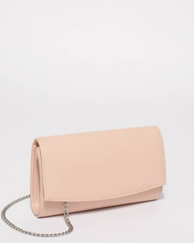 Blush Nude Lizzie Eve Clutch Bag