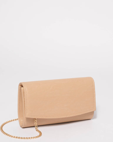 Beige Lizzie Eve Clutch Bag
