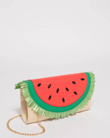 Multi Colour Watermelon Summer Clutch Bag