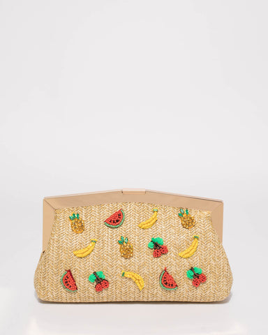 Natural Pascal Fruit Salad Clutch Bag