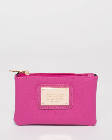 Magenta Large Plate Small Purse