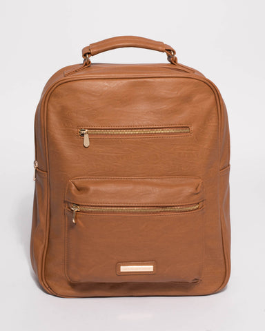 Tan Marley Large Backpack