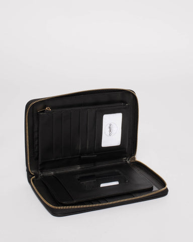 Black Talissa Panel Travel Wallet