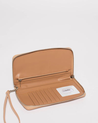 Beige Sofia Mobile Wallet
