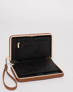 Tan Eve Hardcase Wallet