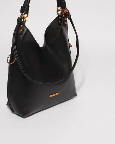 Black Camila Slouch Bag