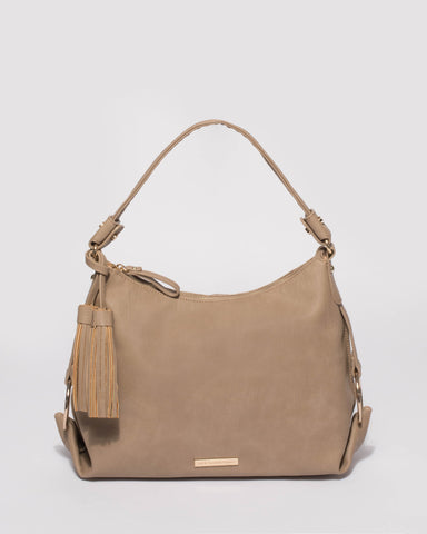 Taupe Natalie Slouch Tote Bag