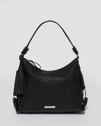 Black Natalie Slouch Tote Bag