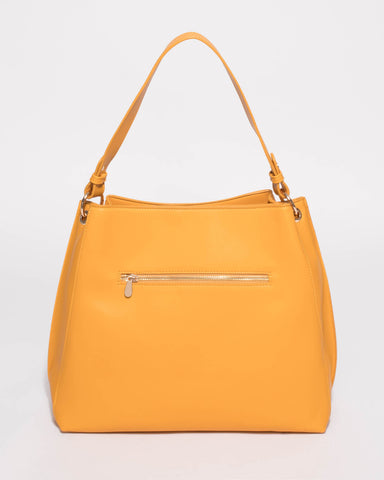 Yellow Sienna Slouch Tote Bag