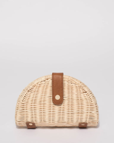 Natural Bowie Weave Clutch Bag