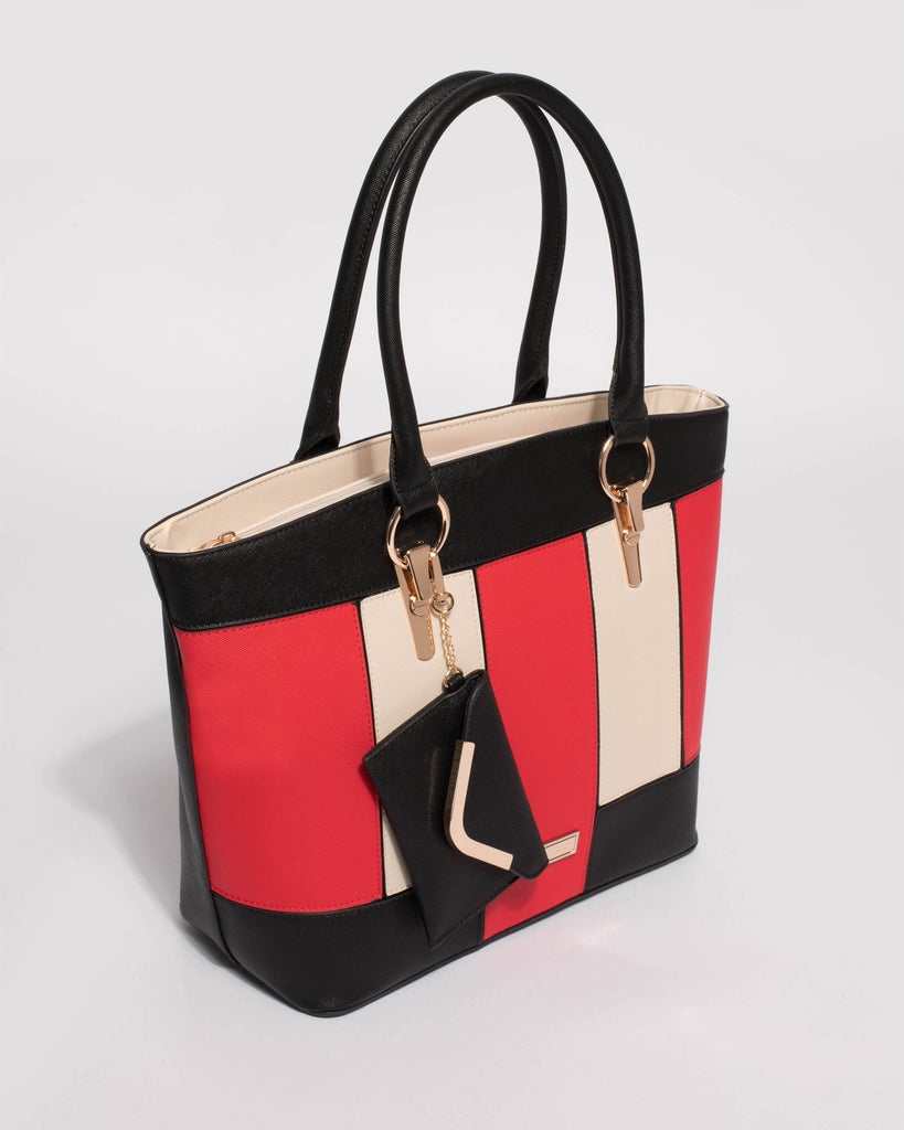 Multi Colour Aretha Tote Bag With Purse