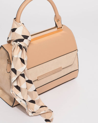 Natural Renee Top Handle Mini Bag