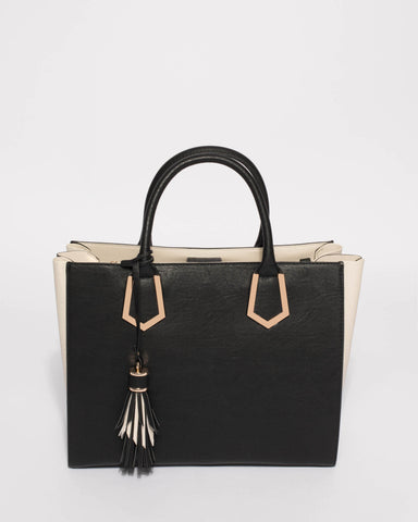 Monochrome Mila Multi Tassel Tote Bag