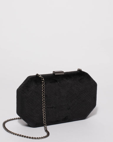 Black Liv Hardcase Clutch Bag