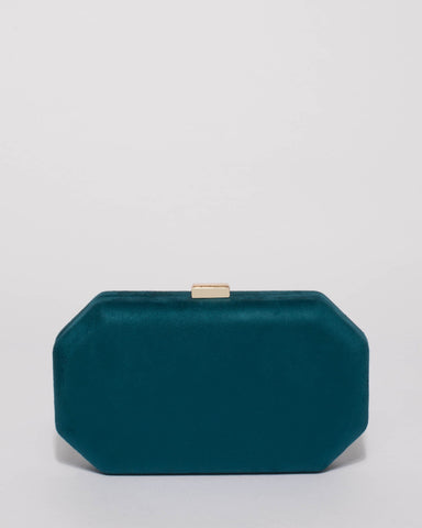 Teal Liv Hardcase Clutch Bag