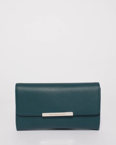 Teal Bridget Evening Clutch Bag