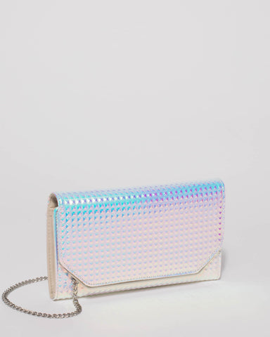 Hologram Stud Myra Evening Clutch Bag