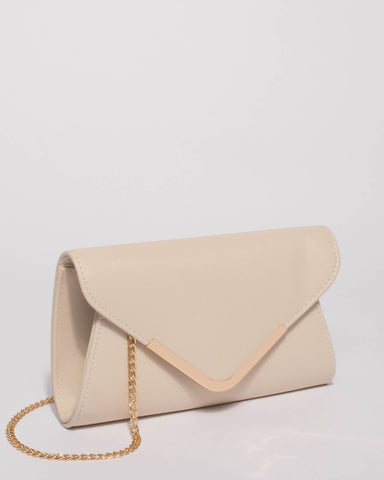 Ivory Small Plain Clare Clutch Bag