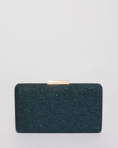 Teal Callie Hardcase Clutch Bag