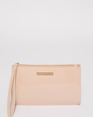 Nude Willow Wristlet Clutch Bag