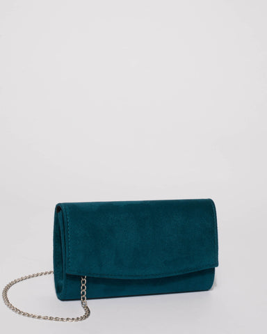 Teal Lizzie Eve Clutch Bag