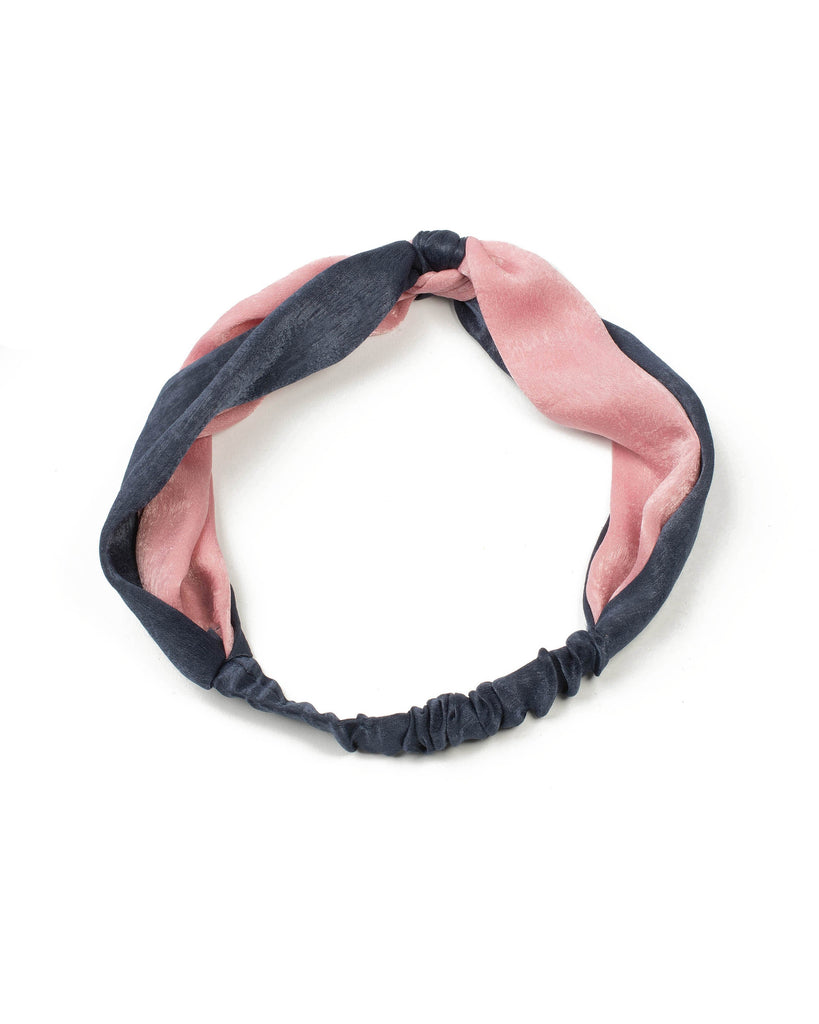 Navy And Pink Two Tone Fabric Headband