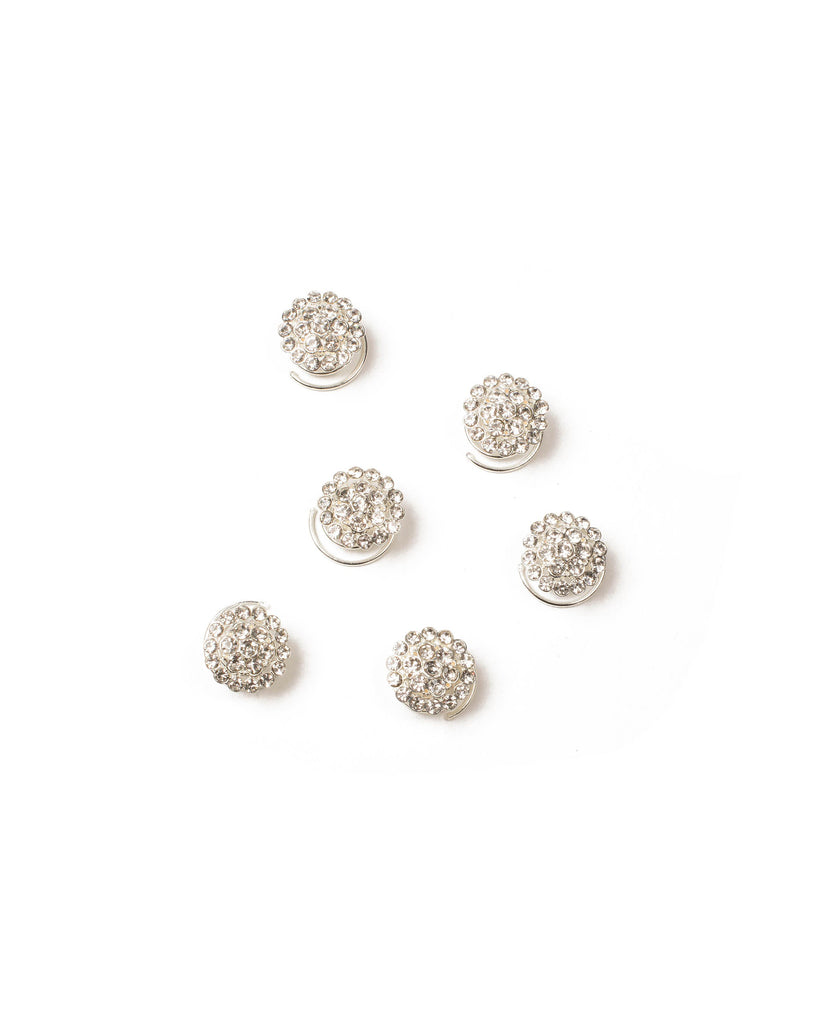 Crystal Pave Circle Hair Jewels