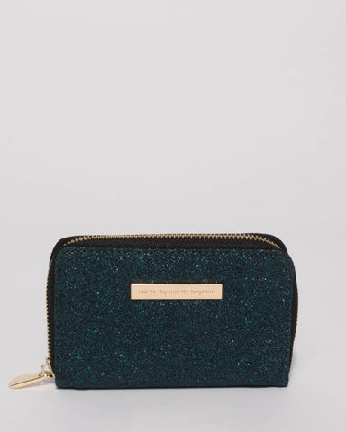Teal Glitter Nina Purse Wallet