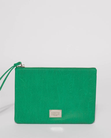 Green Natural Poppy Purse