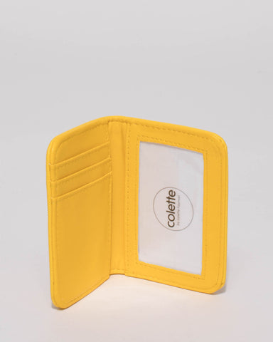 Yellow Est Credit Card Purse