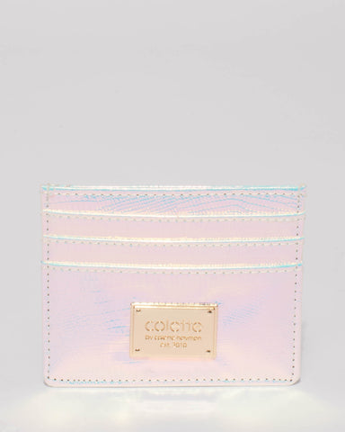 Hologram Textured Mila Credit Card Purse