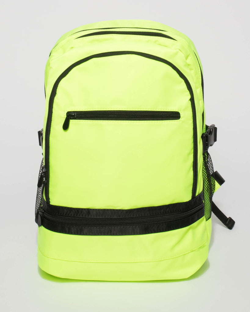 266b61665036 Fluorescent Yellow Lola Travel Backpack – Colette by Colette Hayman UK