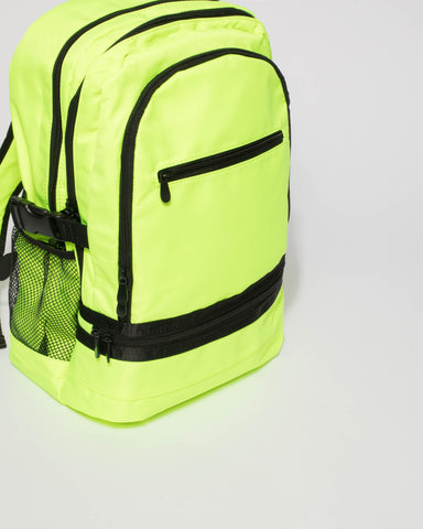 Fluorescent Yellow Lola Travel Backpack