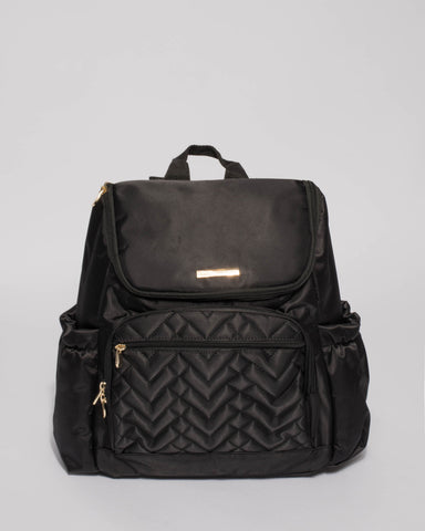Black Baby Travel Bag Backpack