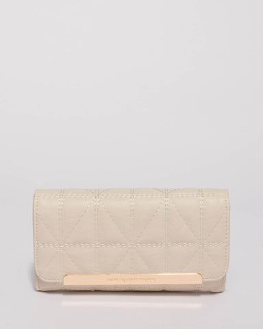 Ivory Jesse Quilt Small Wallet
