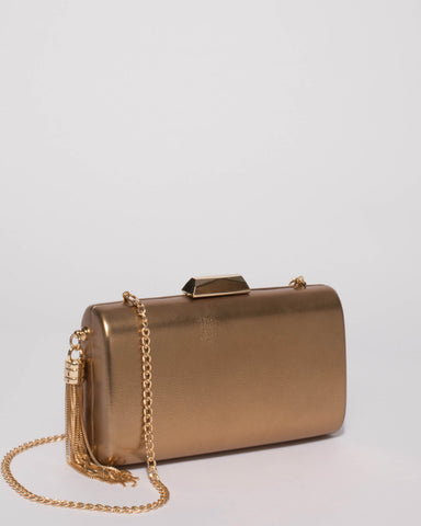Gold Smooth Dolly Evening Clutch Bag