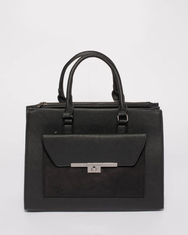 Black Emily 2-In-2 Office Tote Bag