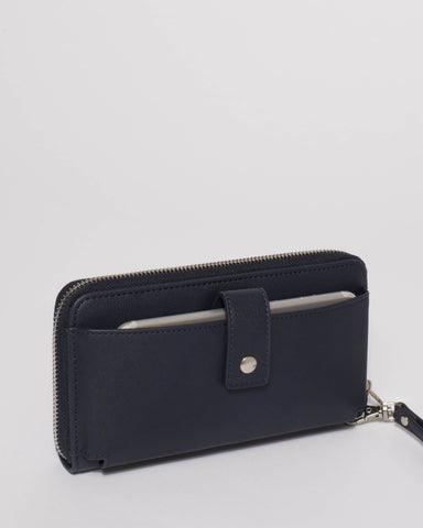 Navy Sofia Mobile Wallet