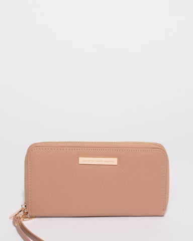 Nude Pink Sofia Mobile Wallet