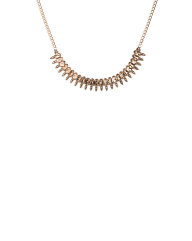 Gold Tone Tribal Metal Necklace