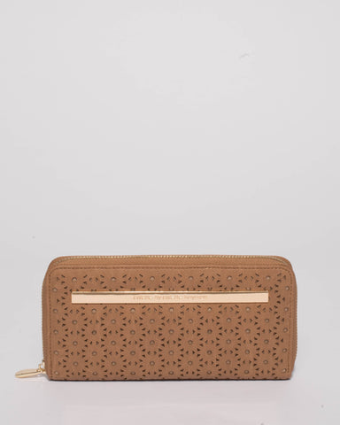 Caramel Nina Design Zip Wallet