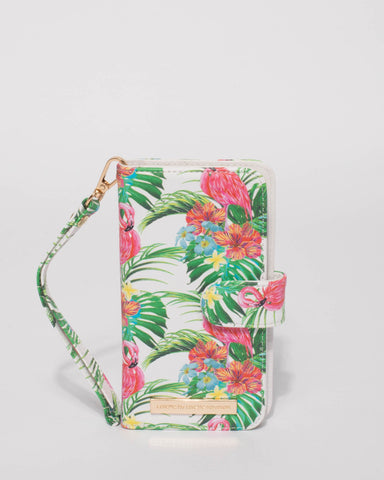 Multi Colour Flamingo Iphone 6, 7 & 8 Plus Purse