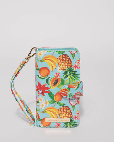 Multi Colour Tropical Iphone 6, 7 & 8 Plus Purse