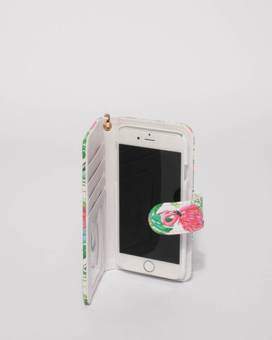 Multi Colour Flamingo Iphone 6, 7 & 8 Purse