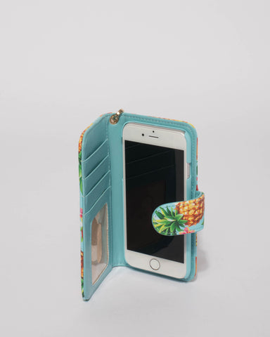Multi Colour Tropical Iphone 6, 7 & 8 Purse