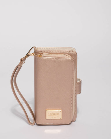 Rose Gold Iphone 6, 7 & 8 Zip Purse